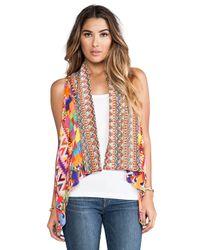 Camilla - Multicolor Worry Dolly Waistcoat Vest in Orange - Lyst