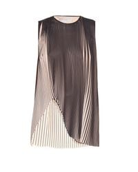 Stella McCartney - Natural Gigi Pleated-crepe Sleeveless Top - Lyst