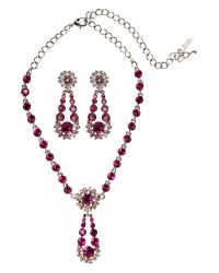 Gemini | Purple Necklace Set Made with Swarovski Crystal | Lyst