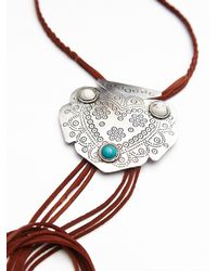 Free People | Brown Womens Montana Leather Bolo | Lyst