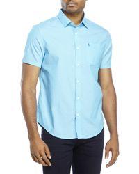 Original Penguin - Blue Classic Fit Short Sleeve Shirt for Men - Lyst