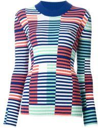 KENZO - Blue Striped Sweater - Lyst