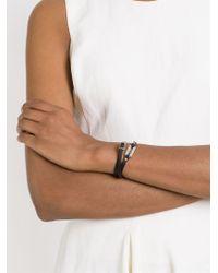 McQ | Black Razor Blade Double Wrap Bracelet | Lyst