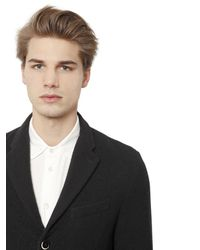 Barena | Black Washed Wool Gauze Jacket for Men | Lyst