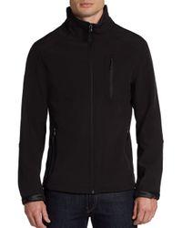 Calvin Klein - Black Zip-Front Soft Shell Jacket for Men - Lyst