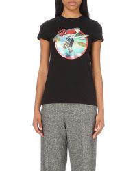 Loewe | Satellite-print T-shirt, Women's, Size: S, Black | Lyst