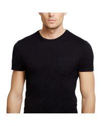 Ralph Lauren Black Label - Blue Short Sleeve Pocket T Shirt for Men - Lyst