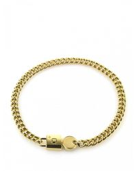 Marc By Marc Jacobs | Metallic Gold Padlock And Key Necklace | Lyst