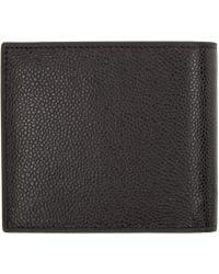 Thom Browne - Black Leather Wallet for Men - Lyst