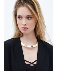 Forever 21 | Metallic Linear Snake Chain Necklace | Lyst