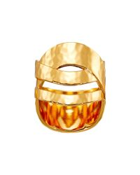 Gorjana - Metallic Amanda Crossover Ring - Lyst