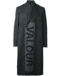 Alexander McQueen | Gray 'valour' Overcoat for Men | Lyst