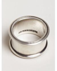 Ann Demeulemeester | Metallic Mens Large Ring for Men | Lyst