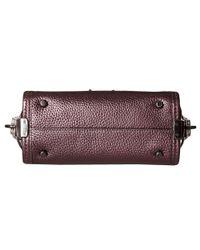 COACH - Purple Metallic Pebble Light Swagger 20 Carryall - Lyst