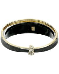 Alexis Bittar | Metallic Liquid Metal Paired Orbiting Bangle W/ Crystal Accent | Lyst