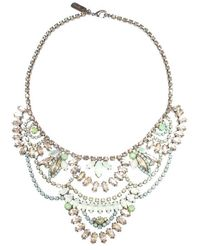 Elizabeth Cole | Multicolor Petite Stephanie Necklace, Jade | Lyst