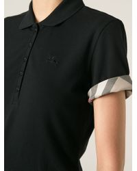 Burberry Brit - Black Polo Shirt - Lyst