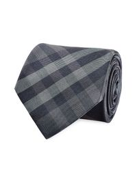 Burberry - Gray Silk Earl Tie - Blue for Men - Lyst