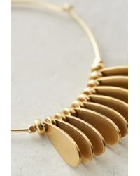 Sandy Hyun | Metallic Brass Fringed Hoops | Lyst