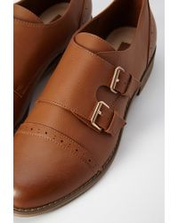 Forever 21 - Brown Faux Leather Buckled Oxfords - Lyst