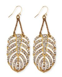 Lulu Frost | Metallic Drift Crystal Feather Earrings | Lyst
