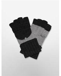 Calvin Klein | Black White Label Colorblock Flap Top Convertible Gloves | Lyst