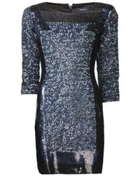French Connection | Blue Sequin Fitted Dress | Lyst