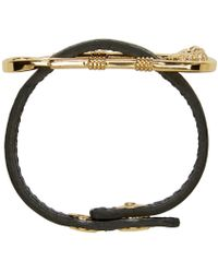 Versus | Metallic Black & Gold Safety Pin Bracelet for Men | Lyst
