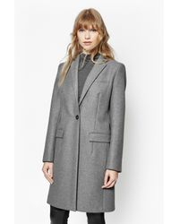 French Connection | Gray Milo Melton Tailored Coat | Lyst