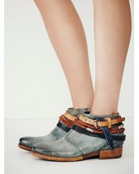 Free People - Blue Triumph Distressed Boot - Lyst