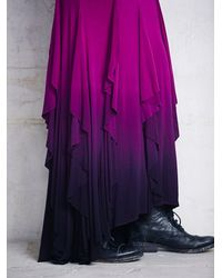 Free People - Purple Womens Fp X Venus Ruffle Maxi - Lyst