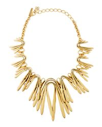 Oscar de la Renta | Metallic Golden Wave Necklace | Lyst