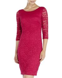 Laundry by Shelli Segal | Pink Lace Sheath Dress | Lyst