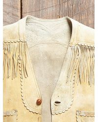 Free People - Natural Womens Vintage 1970S Leather Fringe Vest - Lyst