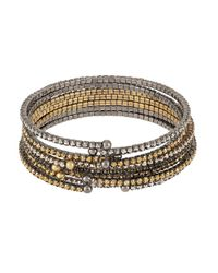 ABS By Allen Schwartz | Metallic Rhinestone Accented Bangle Set | Lyst