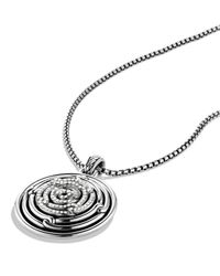David Yurman - Metallic Labyrinth Small Disc Pendant With Diamonds - Lyst