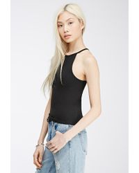 Forever 21 - Black Double-Racer Cami - Lyst