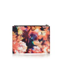 Karen Millen | Multicolor Blurred Floral Print Pochette | Lyst
