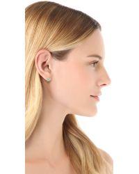 Tai - Green Stone Stud Earrings - Lyst