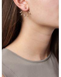 Pamela Love - Pink Five Spike Stud Lobe Earrings - Lyst