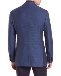 Kiton - Blue Box Weave Sportcoat for Men - Lyst