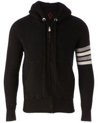Side Slope - Black Striped Sleeve Hoodie for Men - Lyst