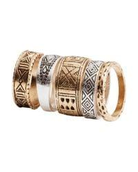 H&M - Metallic 5pack Rings - Lyst