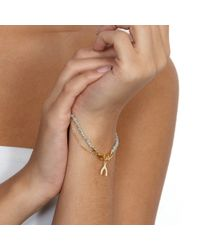 Astley Clarke | Metallic Biography Wishbone 18ct Gold Vermeil Amazonite Friendship Bracelet | Lyst