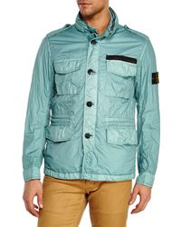 Stone Island - Green Sage Five-Pocket Jacket for Men - Lyst