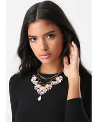 Bebe | Multicolor Stone Statement Necklace | Lyst