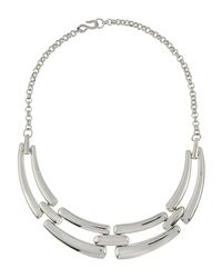 Kenneth Jay Lane - Metallic Four-part Link Bib Necklace - Lyst