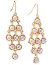 Carolee | Metallic Gold-tone Kite Chandelier Drop Earrings | Lyst