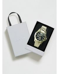 TOPMAN - Metallic Gold Look Linked Metal Watch Giftbox* for Men - Lyst