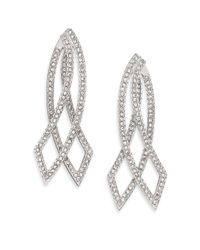 Adriana Orsini - Metallic Elevate Pavé Crystal Double-sided Drop Earrings - Lyst